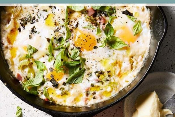 Perfect Baked Cast Iron Skillet Eggs Recipe