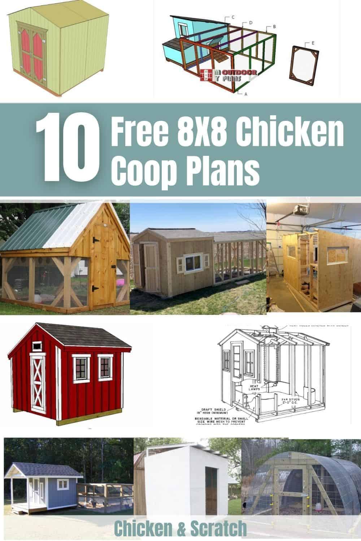 8×8 Chicken Coop plan