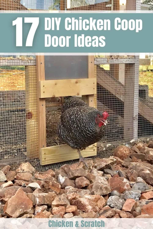 chicken coop doors ideas