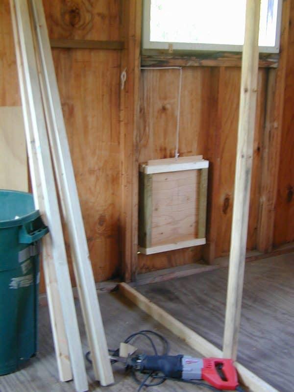 chicken coop sliding door