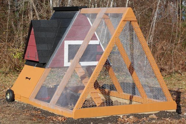 Functional Framed Chicken Coop with Tractor Plan